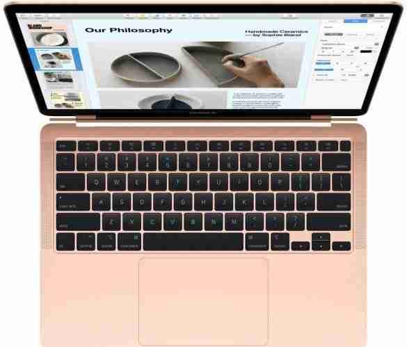 macbook air colour pink